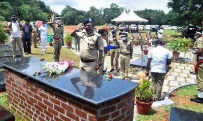 dog memorial police